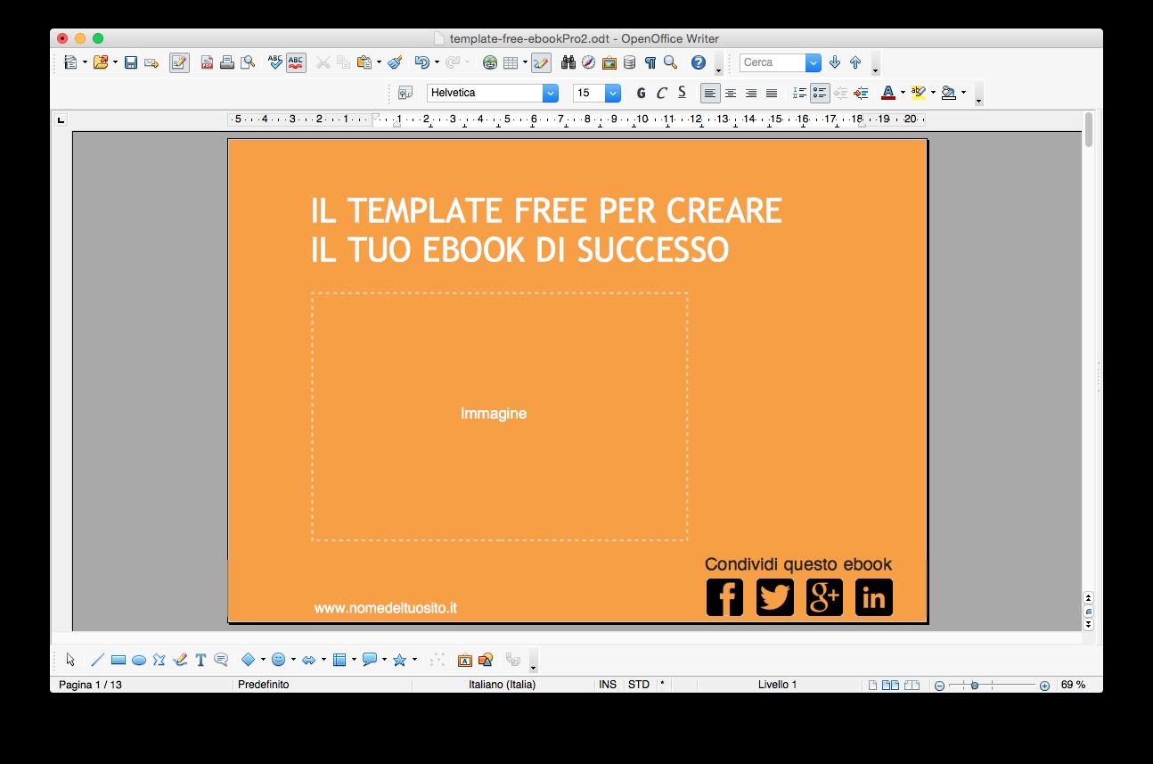 Template per impaginare ebook con OpenOffice