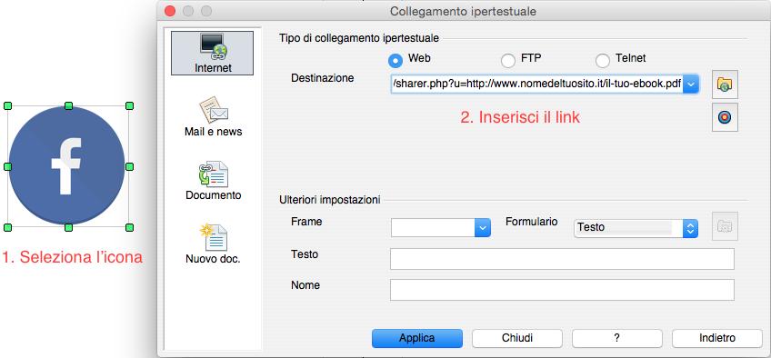 Come inserire un pulsante cliccabile in un ebook