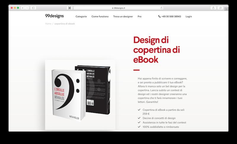 Servizio online per creare la copertina di un ebook