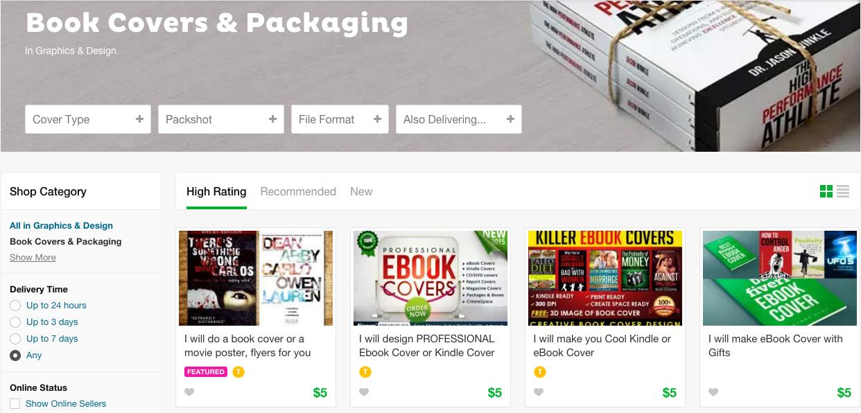 Fiverr: con 5$ hai la copertina per il tuo ebook